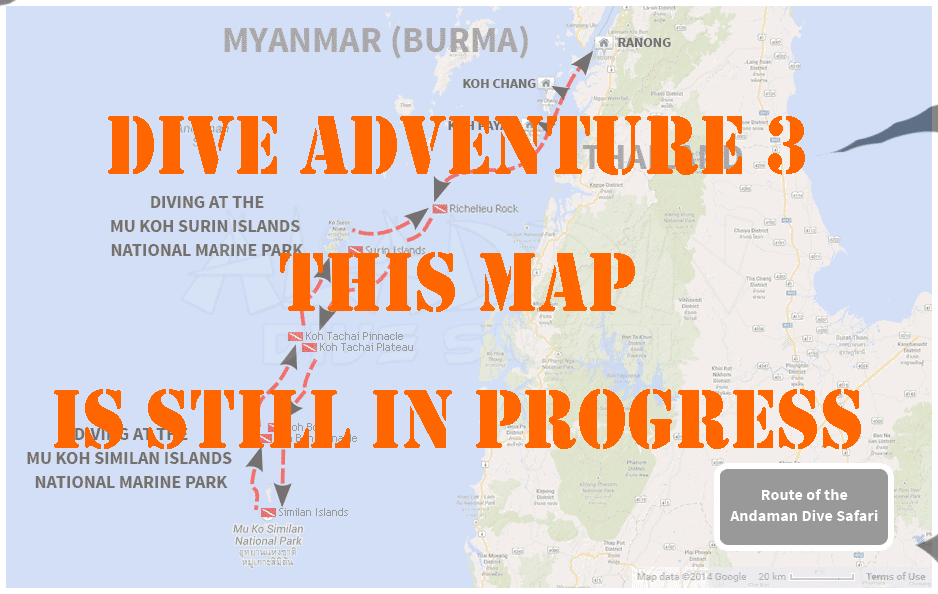 Map of the dive adventure 3